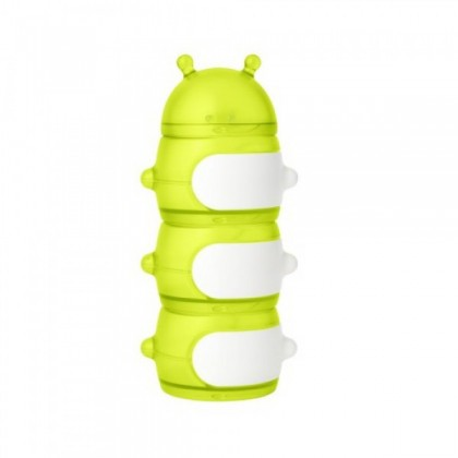 Boon Stack Caterpillar Snack Container - Teal / Red