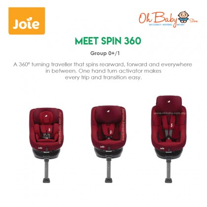 Joie Spin 360 Isofix Car Seat With 360° Rotating Seat Group 0+/1