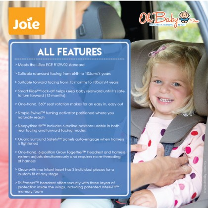Joie i-Spin 360 Isofix Car Seat