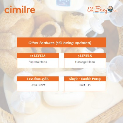 CIMILRE S5 Double Electric Breast Pump Integrated