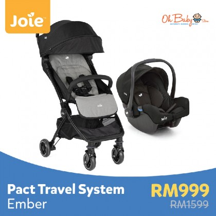 Joie Pact Stroller Travel System with Joie Gemm - Ember