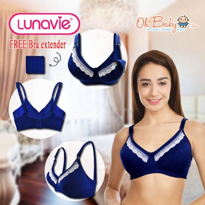 Lunavie Sheer Comfort Nursing Bra Navy colour