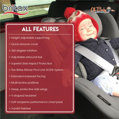 Britax Römer DUALFIX i-Size 360 degrees Rotation Convertible Baby Car Seat