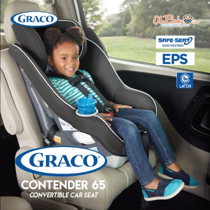 Graco Contender 65 Convertible Car Seat For Newborn Up To 29 Kg Combo With Malish Celia Double Electric Breast Pump
