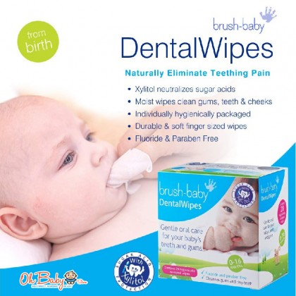 Brush-baby Dental Wipes For Newborn Baby For Step1 Babies 0-16 months