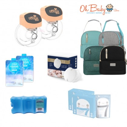 Shapee Milkee Lab Lacfree Wearable Double Electric Breast Pump Package