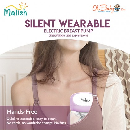 Malish Silent Wearable Electric Breast Pump 1pc (24mm)