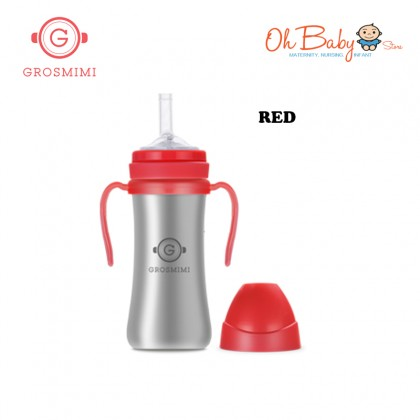 Grosmimi Stainless Straw Cup 200ml For 6M+