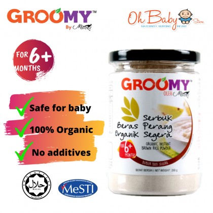 GROOMY Organic Instant Brown Rice Powder For 6 Months+ (200g)