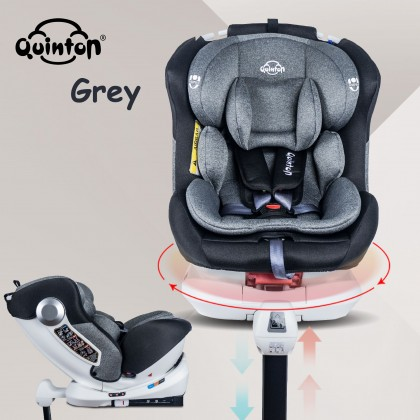 Quinton one spin+360 Car Seat blue/grey + Coco high chair grey + Gold stroller black