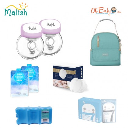 Malish Silent Wearable Electric Breast Pump Package Single/Double (24mm)