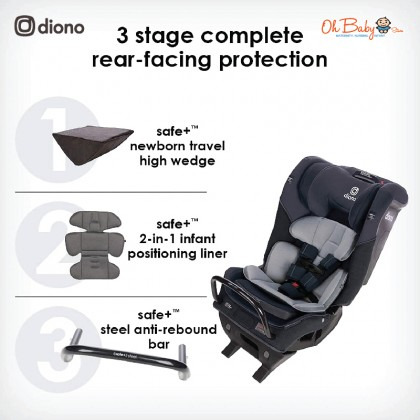 Diono Radian 3QXT Convertible All-in-One Car Seat from birth to booster (1.8 – 54 kg)