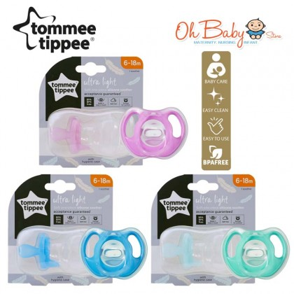Tommee Tippee Ultra Light Soft Silicone Soothers 6-18m (1pcs)