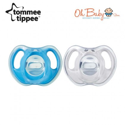 Tommee Tippee Ultra Light Soft Silicone Soothers 6-18m (2pcs)