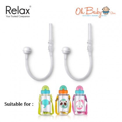 Relax 360 Replacement Straw For Water Bottle (400ml/550ml) 2pcs