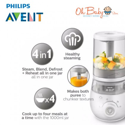 Philips Avent 4 in 1 Healthy Steam Meal Food Processor or Food Maker