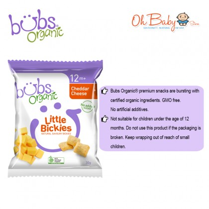 Bubs Organic Little Bickies Cheddar Cheese 12m+ 30g