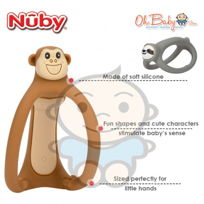 Nuby Loopals Silicone Teether 3m+