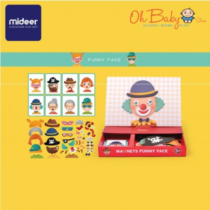 Mideer Magnets Board Education Puzzle Funny Face 56pcs 3 years+