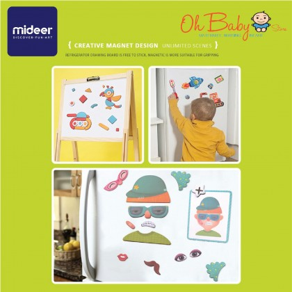 Mideer Magnets Board Education Puzzle Dressing 50pcs 3 years+