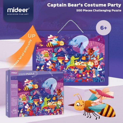 Mideer Captain Bear's Costume Party Puzzle 500 Pcs 6 years+