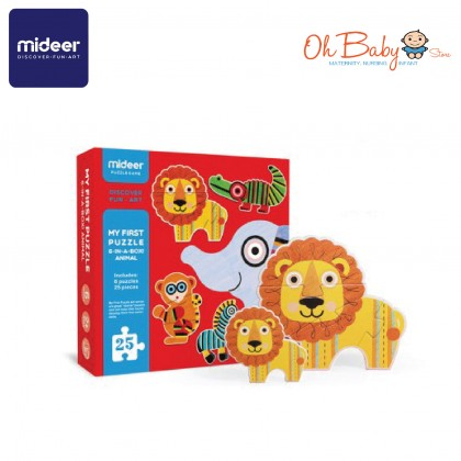 Mideer My First Puzzle Linear Animal 6 Puzzle 25pcs 2 years+