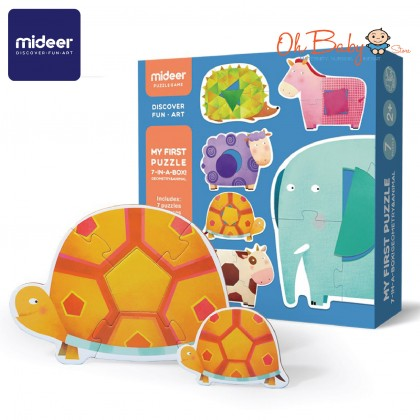 Mideer My First Puzzle Geometry & Animal 7 Puzzles 32pcs 2 years+