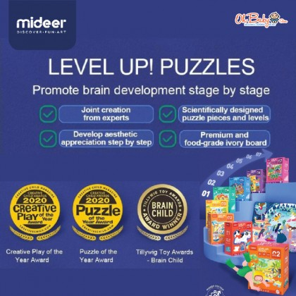 Mideer Evolution Advanced Puzzle Level 3 Natural Scene 3 in 1 Box 3.5 years+