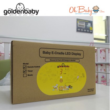 Golden Baby Digital Remote Control with Timer Baby Cradle