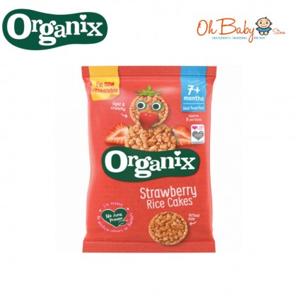 Organix Finger Food Rice Cakes for 7m+ Strawberry (50g)