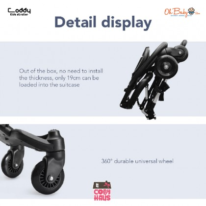 Coby Coddy Kids Multifunctional Stroller suitable from 7-36 Months Simple Folding Lightweight Hand Carry On Plane