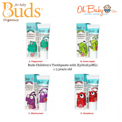Buds Children's Toothpaste With Xylitol 1-3 years 50ml