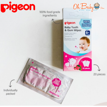 Pigeon Baby Tooth & Gum Wipes 20pcs