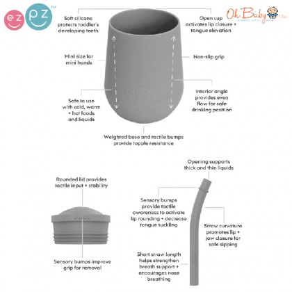 EZPZ Silicone Mini Cup + Straw Training System 4oz - Oh Baby Store