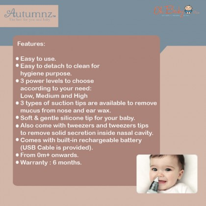 Autumnz Rechargeable Nasal And Ear Aspirator