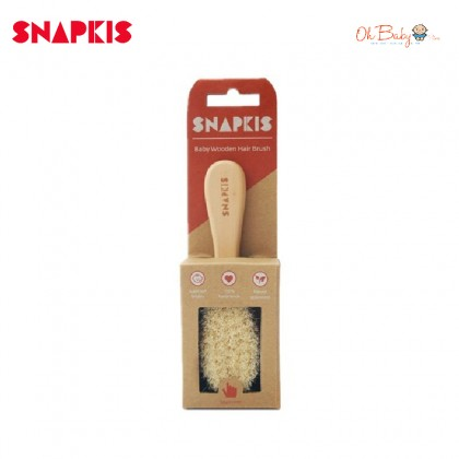 Snapkis Baby Wooden Hair Brush - Oh Baby Store