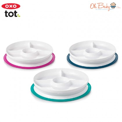 OXO Tot Stick & Stay Divided Plate - Oh Baby Store