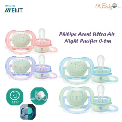 Philips Avent Ultra Air Night Pacifier 0-6m - Oh Baby Store