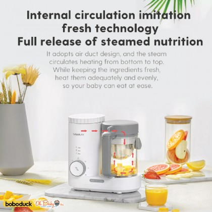 Boboduck 4 in 1 Baby Food Processor Maker Blender Heater Mixer Steamer - Oh Baby Store