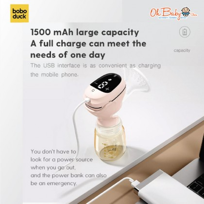 Boboduck Belle Wireless Portable 9 Level Rechargeable Electric Breast Pump