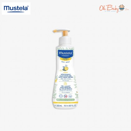 Mustela Nourishing Cleansing Gel With Cold Cream - Dry Skin (300ml) - Oh Baby Store
