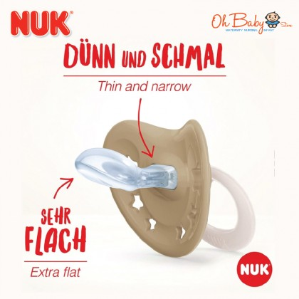 Nuk Signature Night Silicone Orthodontic Soother 0-6m/6-18m 2pcs/pack
