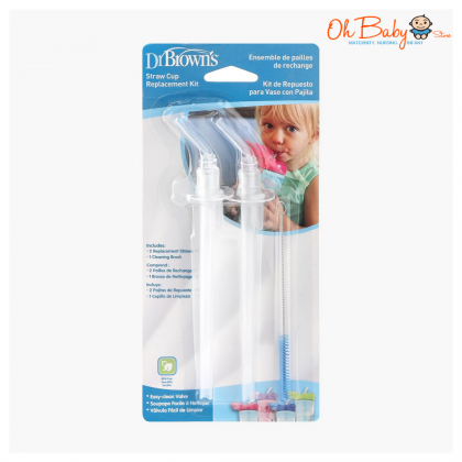 Dr Brown's Straw Cup Replacement Kit 2pcs for Insulated Straw Cup 10oz