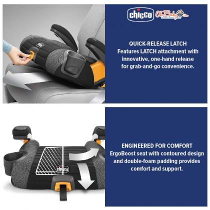 Chicco GoFit Plus Booster Car Seat Iron US with Latch 22-50kg
