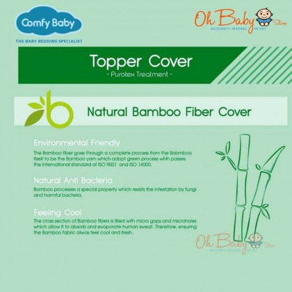 Comfy Baby Replacement Cover for Purotex Playpen Topper 71x104x3cm
