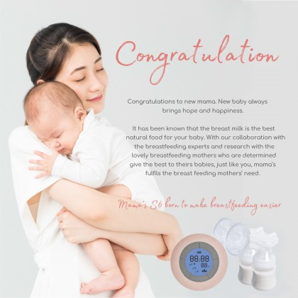 Mama's S6 Double Rechargeable Breast Pump Packages