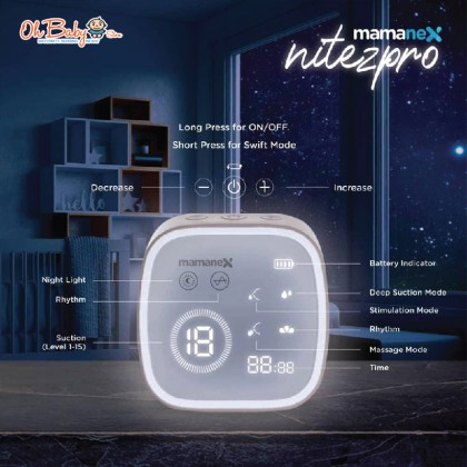 Mamanex Nitez Pro Electric Double Breast Pump Package