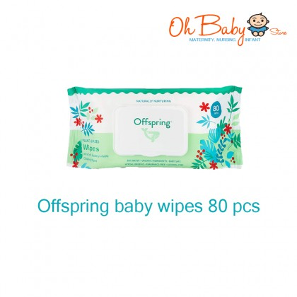 Offspring Plant Based Ultra Soft Biodegradable Baby Wipes 20s / 80s