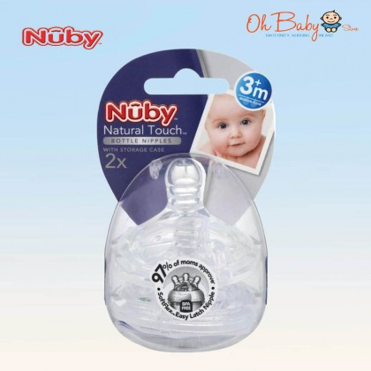 Nuby Natural Touch Baby Silicone Replacement Nipple 2pcs/pack