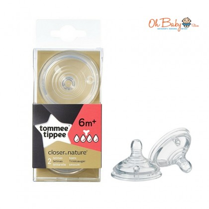 Tommee Tippee Closer To Nature Bottle Teat (2pcs)